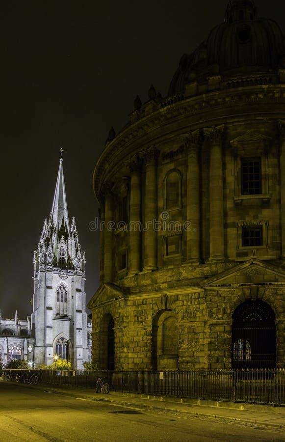 Oxford University. At night, united kingdom royalty free stock photos