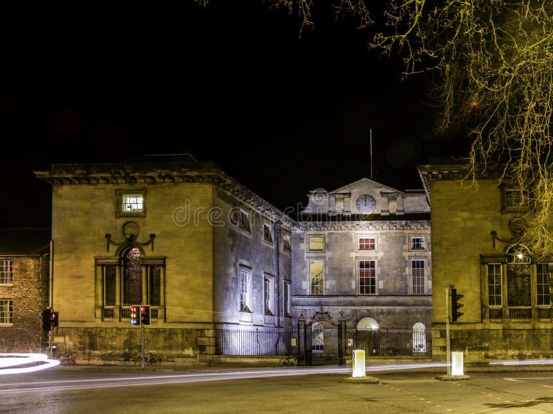 Oxford University. At night, united kingdom royalty free stock photography