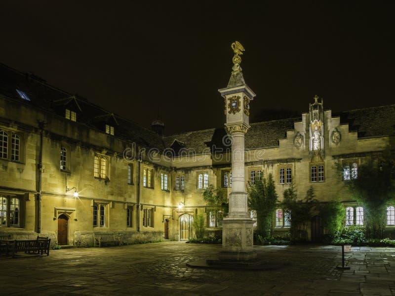 Oxford University. At night, united kingdom stock photography