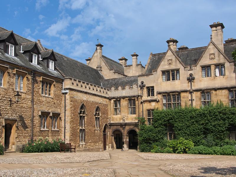 Oxford University, Merton college stock photos