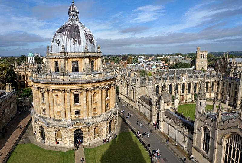 Oxford University, Radcliffe Camera royalty free stock image