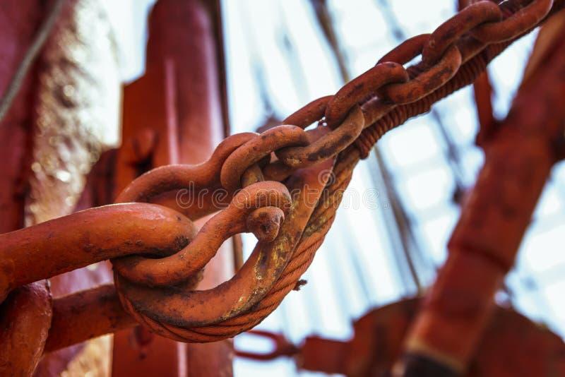 Oxidação, correntes e equipamentos foto de stock