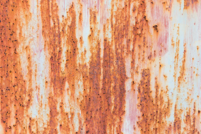 Oxidação do ferro com fundo da corrosão imagem de stock