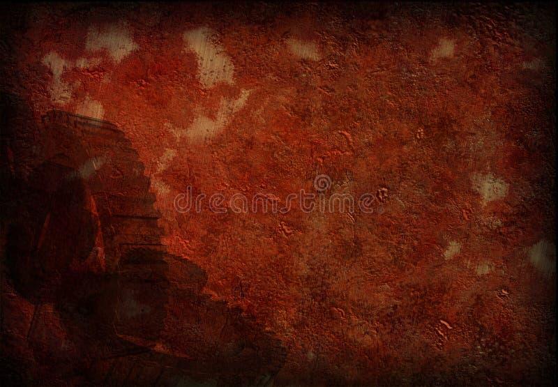 Oxidação e engrenagens de Grunge ilustração stock