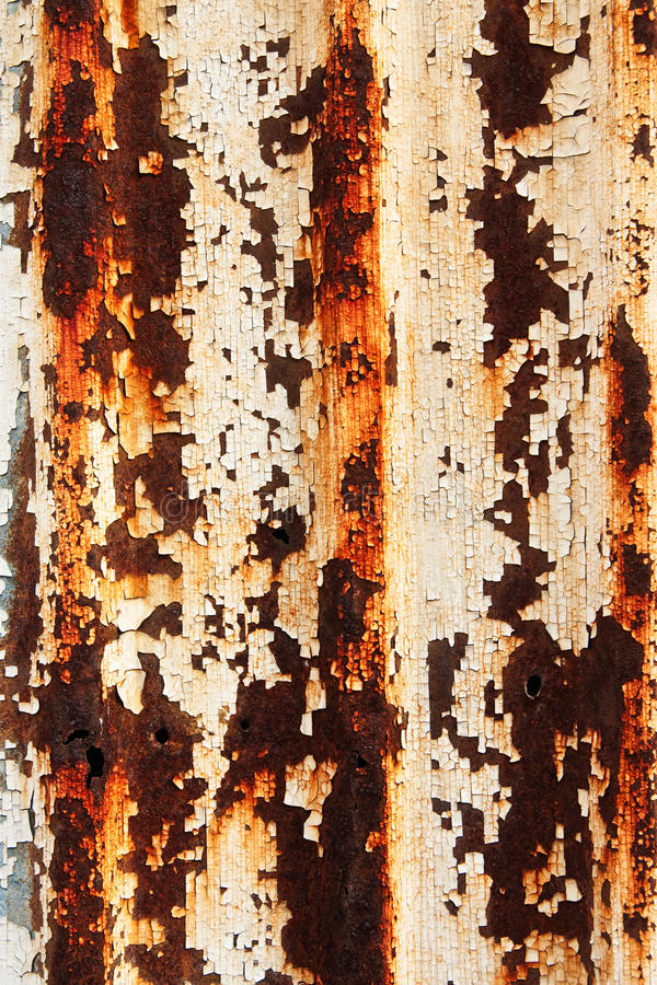Oxidação na superfície da placa do ferro fotografia de stock royalty free