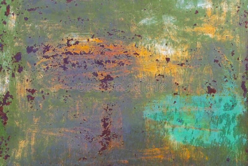 Oxidação no metal sujo fotografia de stock