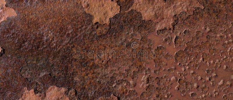 Oxidado, corroído, pelando textura del metal fotografía de archivo