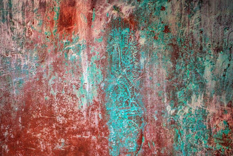 Oxidado viejo pintó una hoja de metal imágenes de archivo libres de regalías