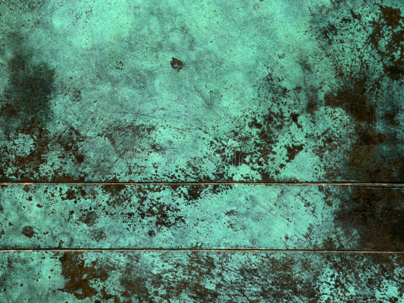 Oxidized copper texture. Showing green texture royalty free stock photography