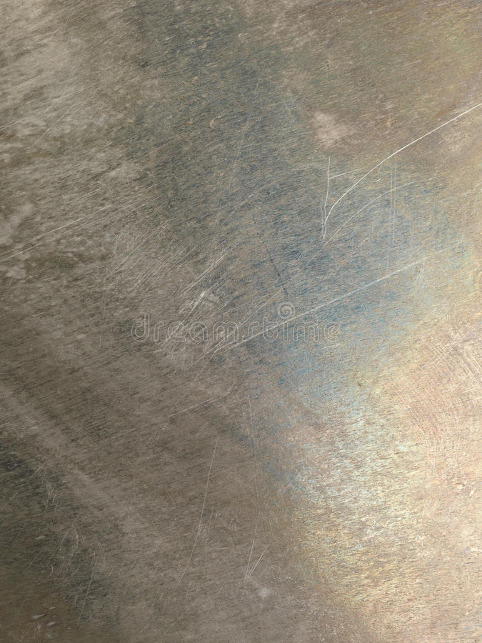 Oxidized scratched metal texture. Oxidized scratched grungy shiny metal texture background stock photos