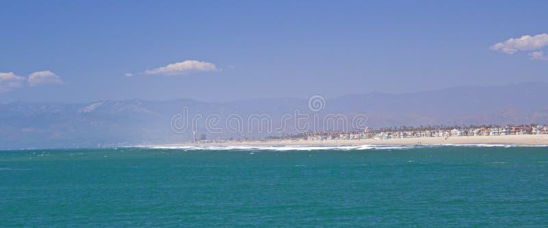 Oxnard Beaches. Beach Coastline in Oxnard California stock image