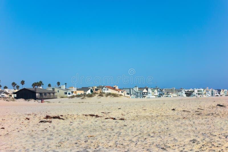 Oxnard Sea Side, Mandalay Beach Sands, CA. Inviting dry sand of Mandalay beach on ocean side of Oxnard, Southern California resort style living royalty free stock photos