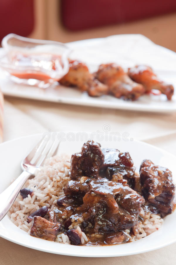 Download Oxtail Curry With Rice - Caribbean Style Stock Photo - Image: 28659692