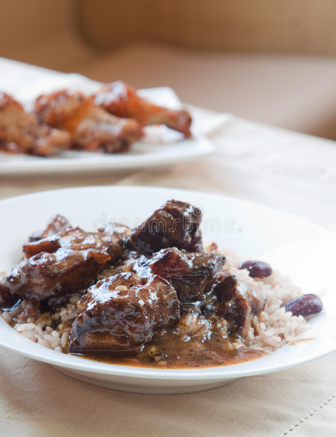 Download Oxtail Curry With Rice - Caribbean Style Stock Photo - Image: 28699090