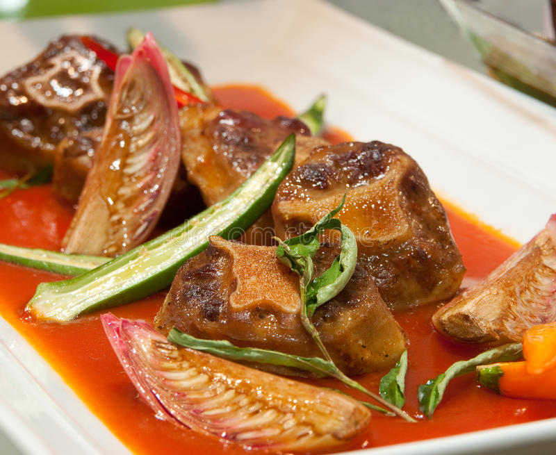 Oxtail In Spicy Sauce Stock Photography