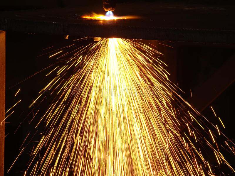 Oxygen - acetylene cutting torch royalty free stock photo