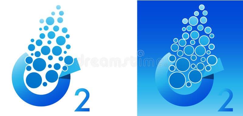 Oxygen symbol stock illustration
