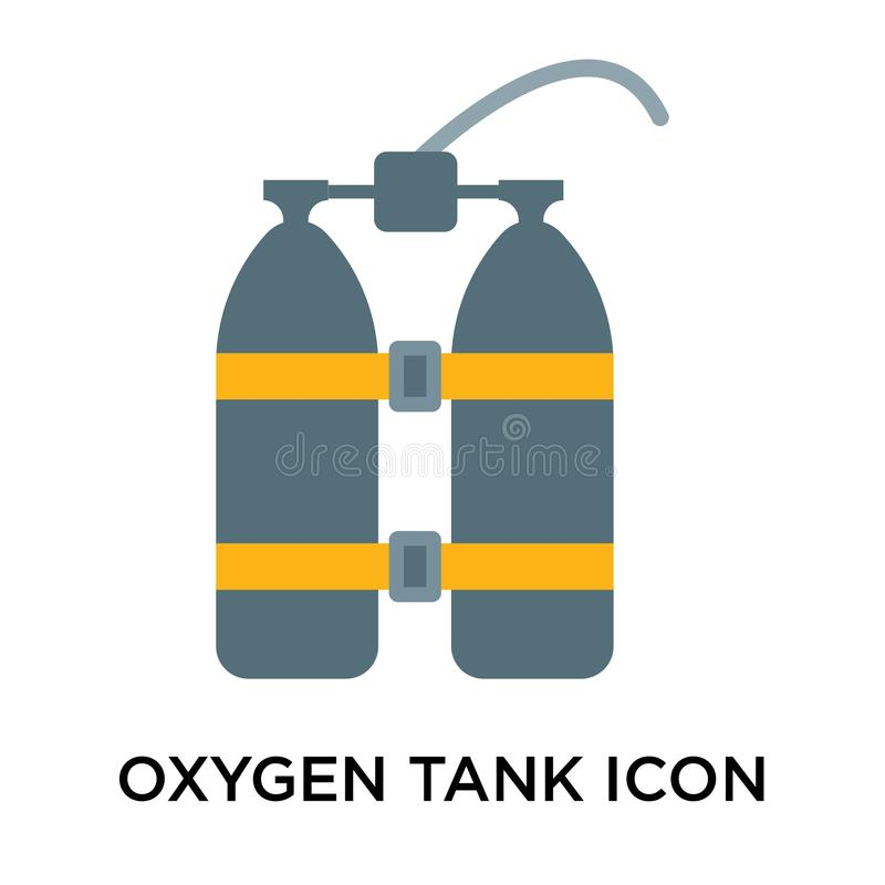 Oxygen Tank Icon Vector Sign And Symbol Isolated On White Backgr