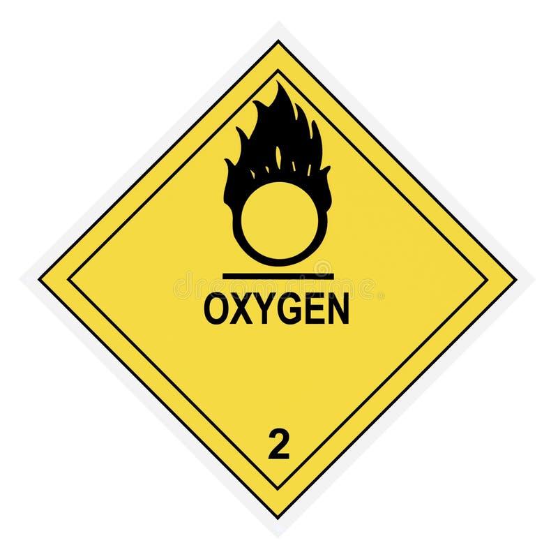 Oxygen Warning Label stock photos