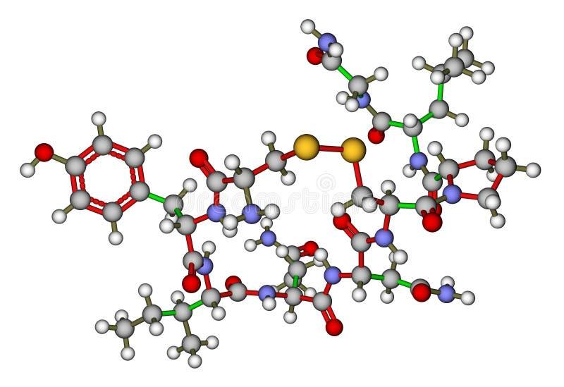 Oxytocin - det molekylära förälskelsehormonet strukturerar vektor illustrationer