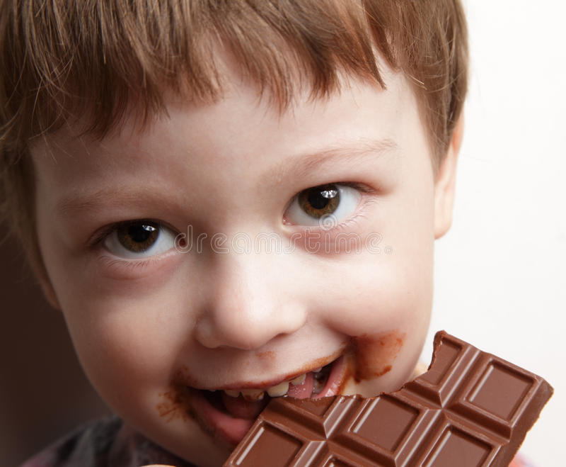 Oy com chocolate foto de stock royalty free