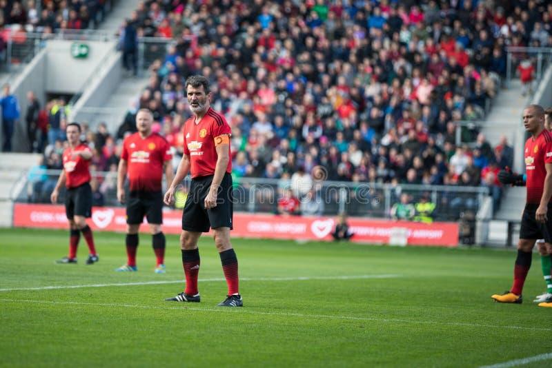 Oy Keane tijdens de Liam Miller Tribute-gelijke stock foto