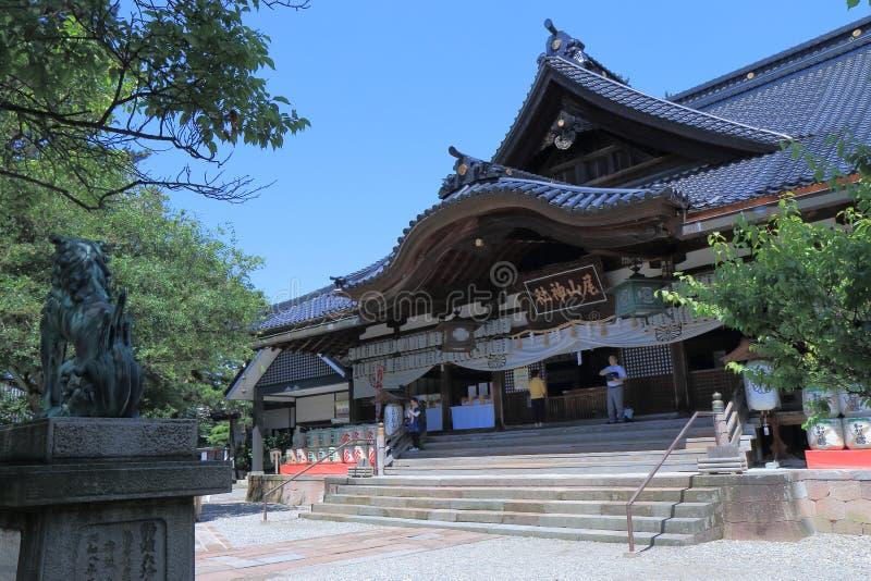 Oyama寺庙今池 图库摄影