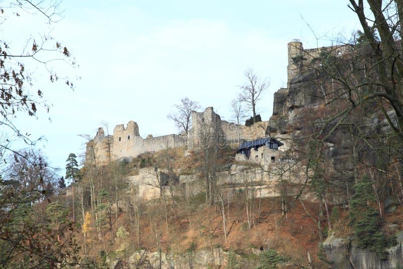Oybin slott royaltyfria bilder