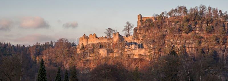 Oybin slott Zittau royaltyfria foton