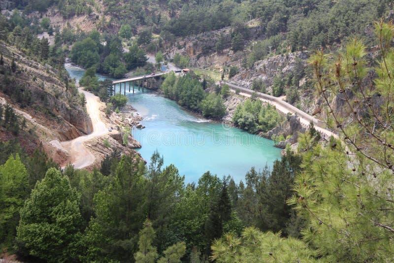 Oymapinar Baraji - Groen Meer royalty-vrije stock foto's