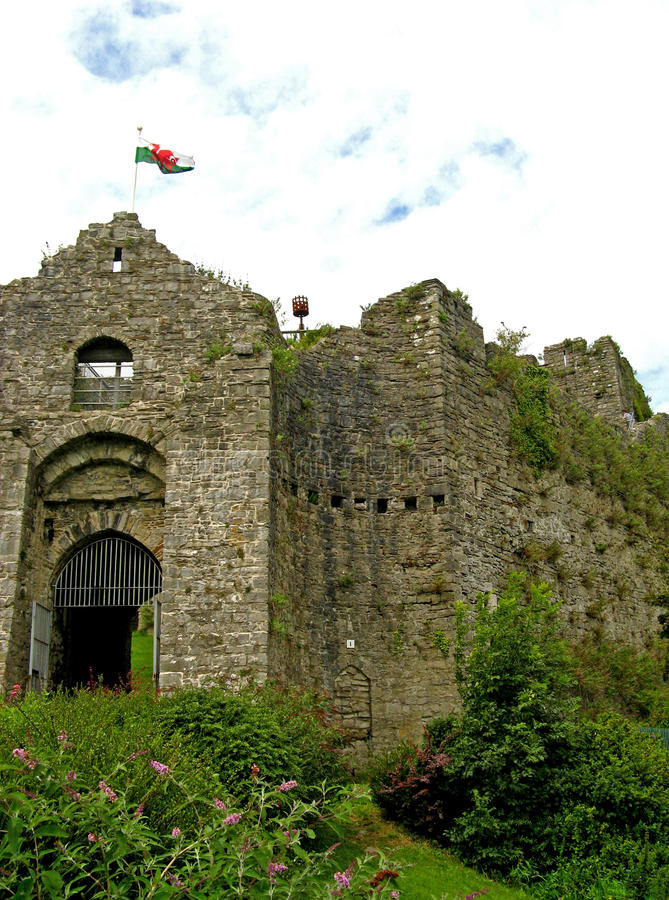 Oystermouth Castle 01 royalty free stock images