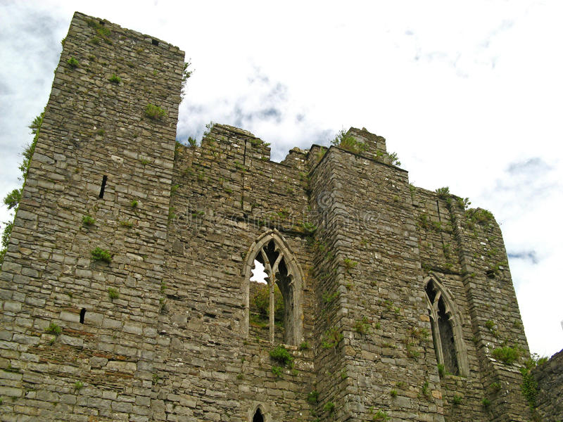 Oystermouth Castle 02 stock photography