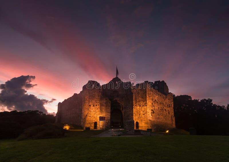 Oystermouth slott Swansea arkivfoton