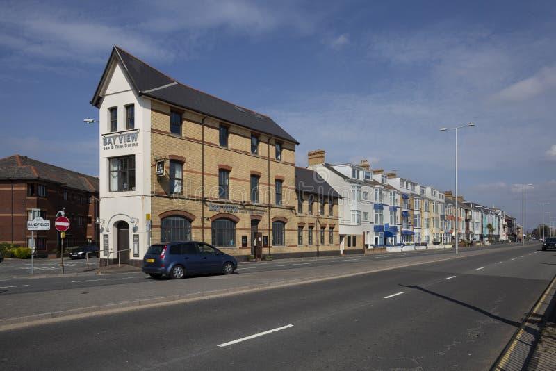Oystermouthweg in Swansea, Zuid-Wales royalty-vrije stock foto's