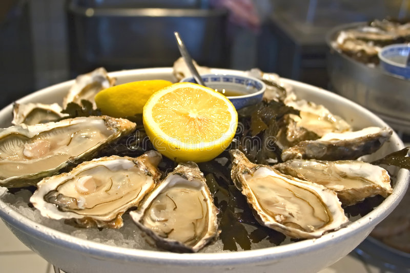 Download Oysters stock photo. Image of restaurant, mussels, food - 1361482