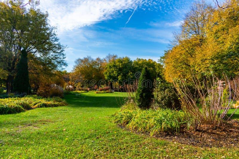 Oz-Park in Chicago in de loop van de dag stock fotografie