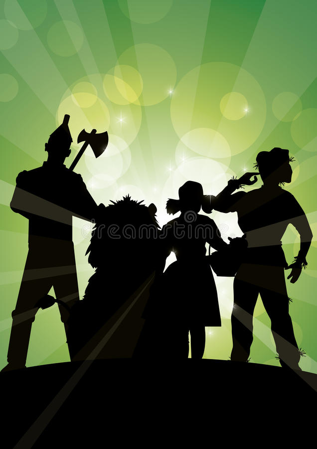 Oz sparkles group vector illustration