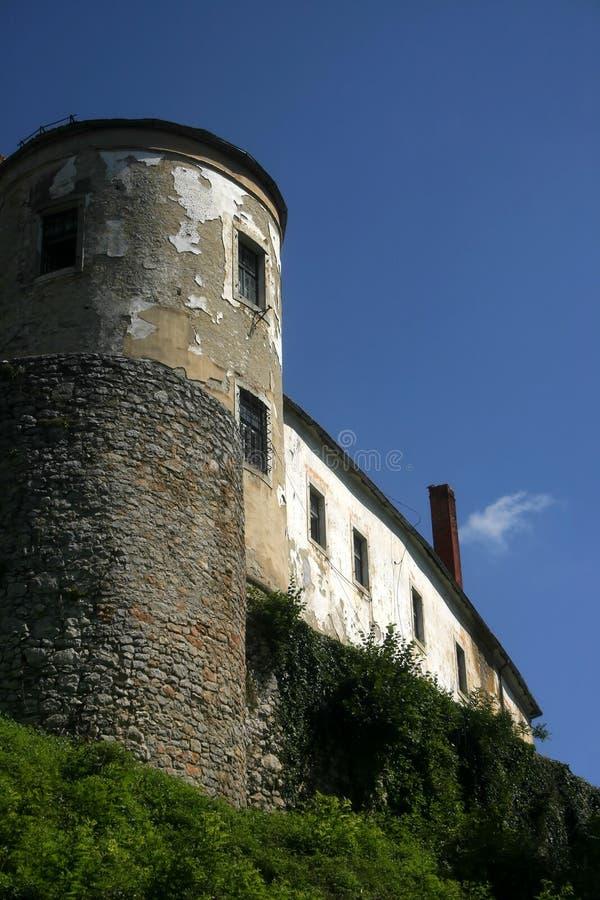 Ozalj Schloss-Kontrollturm Lizenzfreie Stockfotos