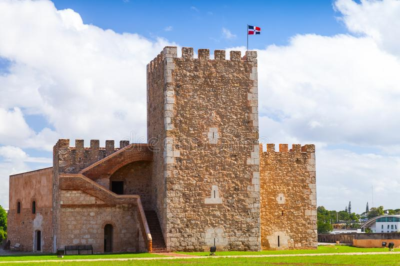 Ozama Fortress, sixteenth-century castle. In Santo Domingo, Dominican Republic royalty free stock photography