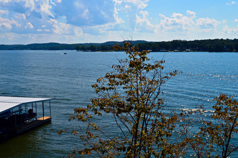 Ozark Lake view. Ozark Lake - view from a house on the shore. Photo taken in the autumn of 2016.n royalty free stock photography