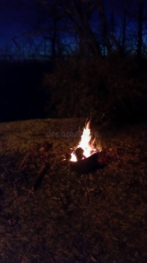 Ozark Mountain Bonfire fotografía de archivo libre de regalías