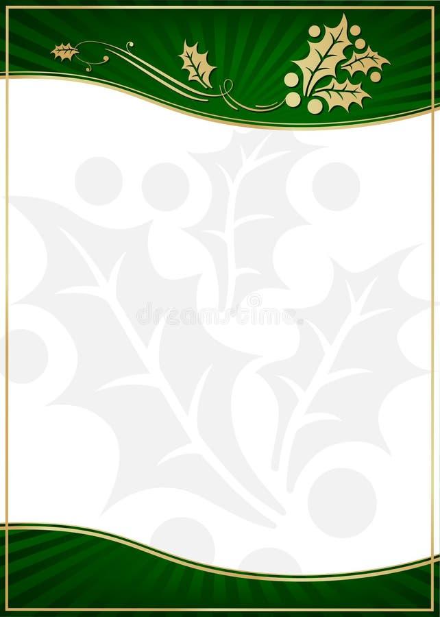 ozdabiająca karcianej egzotycznej prezenta zieleni uświęcona etykietka obraz stock