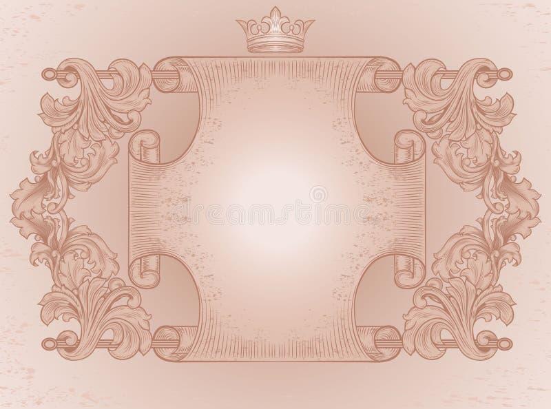 Ozdobna antyczna ślimacznica royalty ilustracja