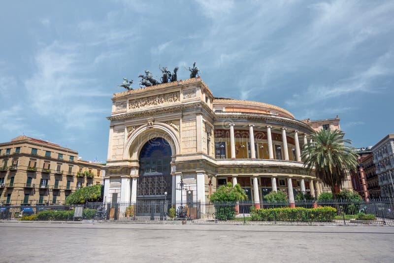 Ozdobna architektura w Palermo, Włochy obrazy royalty free