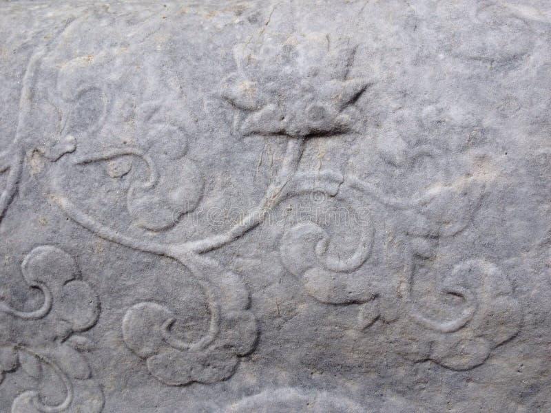Ozdobna cementowa tekstura z kwiatem zdjęcia stock