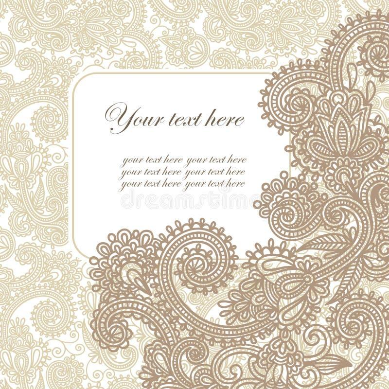 ozdobna karciana zawiadomienie rama royalty ilustracja