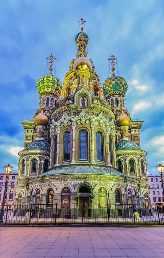 Ozdobna powierzchowność kościół wybawiciel na Rozlewałam krwi lub katedra rezurekcja Chrystus w Świątobliwym Petersburg, Rosja pr zdjęcie royalty free