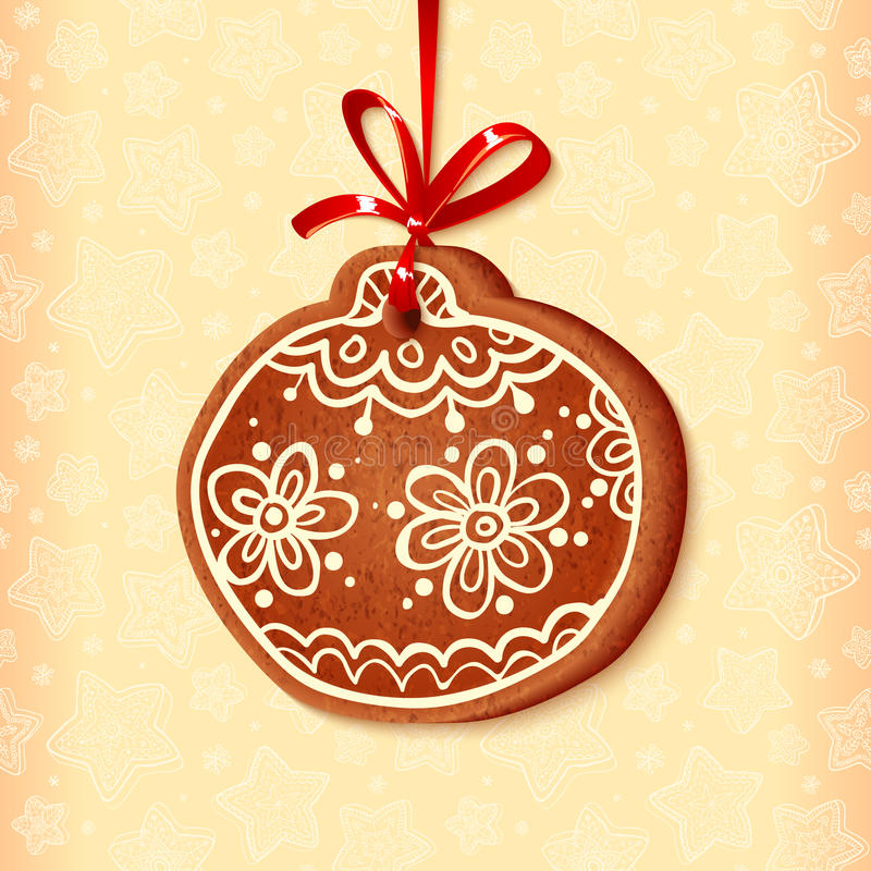 Ozdobna tradycyjna bożych narodzeń cukierki piłka ilustracja wektor
