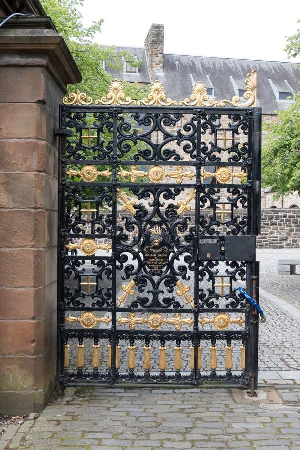 Ozdobna Wejściowa brama w pamięci William Brown dziekan cech Glasgow obraz stock