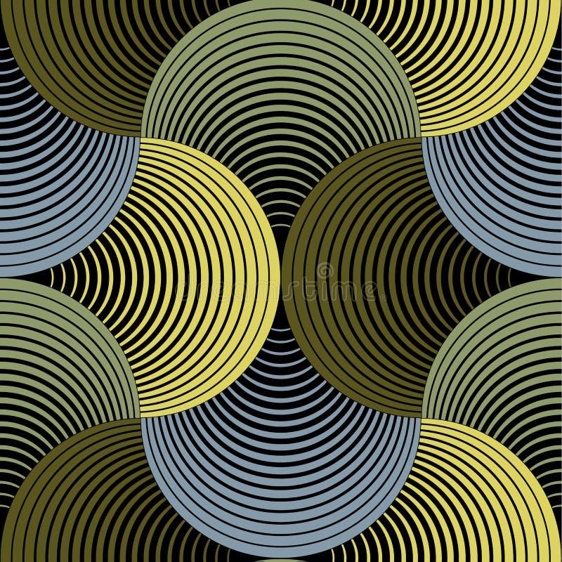 Ozdobnej Geometrycznej płatek siatki Wektorowy Bezszwowy wzór ilustracja wektor